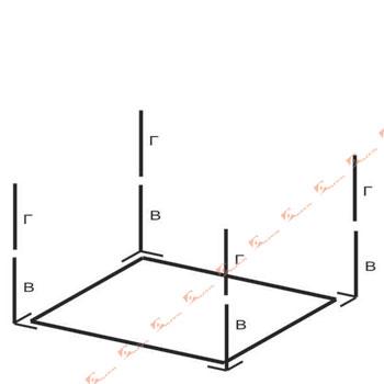 схема сборки каркаса 3x2