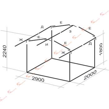 схема каркаса 3х2